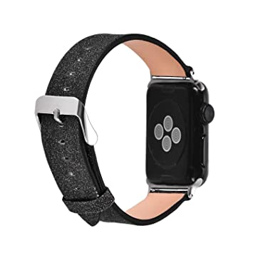 Amazon.com: for Apple Watch Strap 42mm/44mm,Bling Leather ...