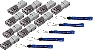 PNY 32GB USB 3.0 Flash Drive Elite Turbo Attache 3 (Ten Pack) Bundle with (5) Everything But Stromboli Lanyard (P-FD32GTBOP-GE)