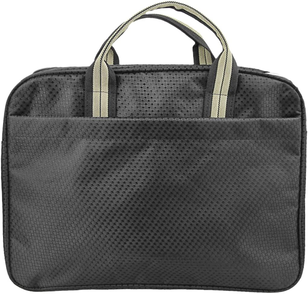 B4 Business Portfolio Padfolio Documents File Paper Holder Zippered Briefcase