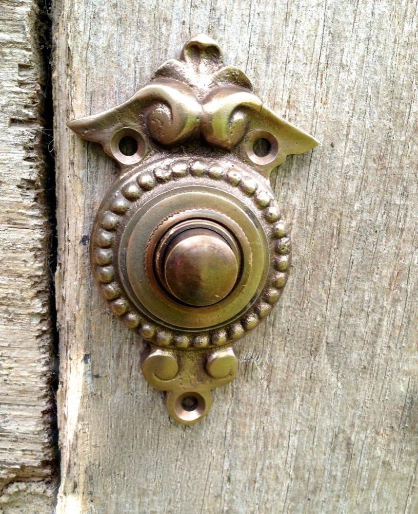 Antikas timbre estilo antiguo de lat/ón patinado timbres con pulsador timbres para puerta de casa