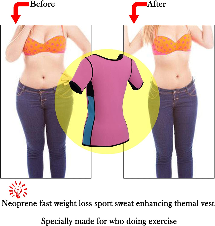Ursexyly Women Sauna Suit Waist Trainer Cincher Neoprene Slimming Sweat Vest Top Workout Jacket Shirt Body Shaper with Sleeve