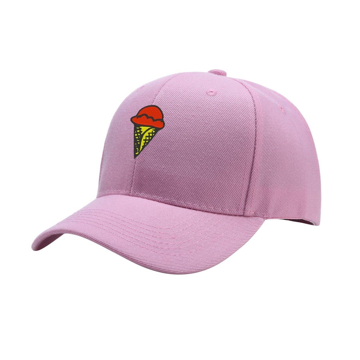 NeeKer Ice Cream Peaked Hat Embroidered Logo Adjustable Fish Cap
