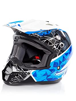 Casco Mx Fly Racing 2017 Kinetic Crux Azul-Negro-Blanco (S , Azul