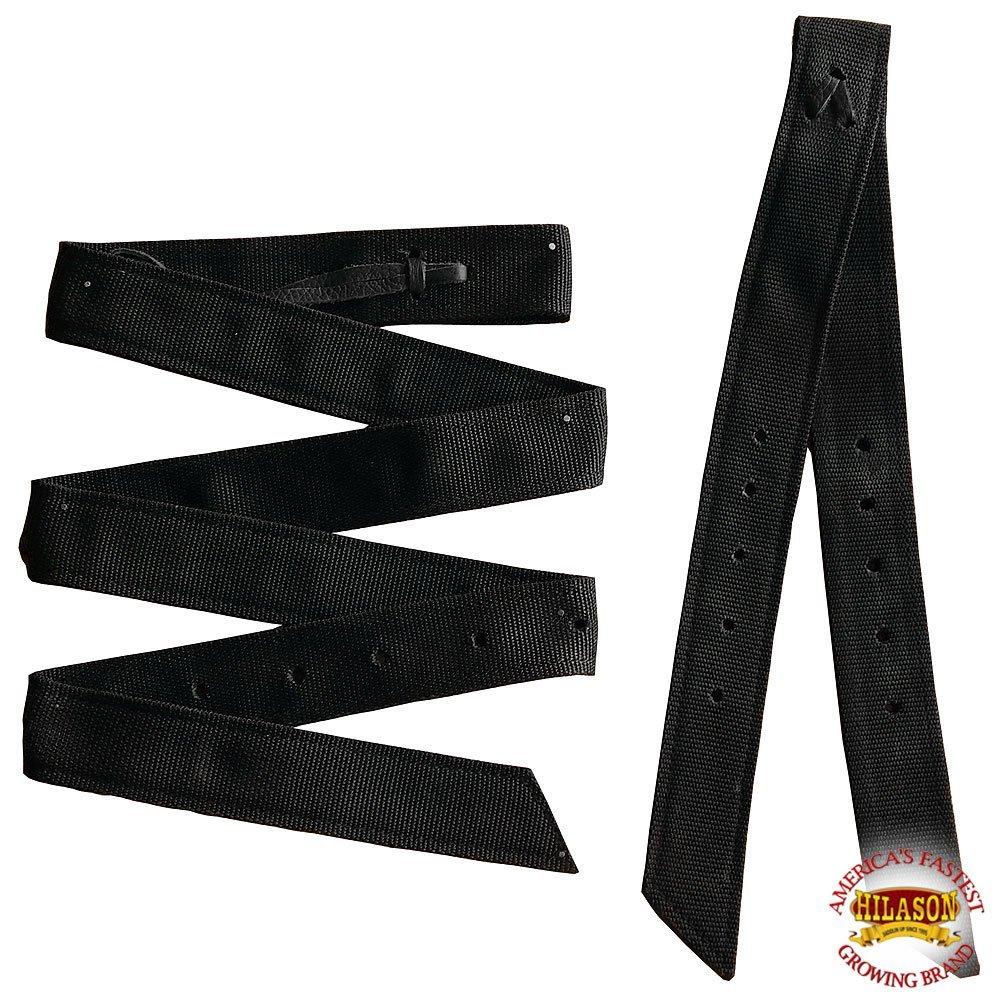 HILASON プレミアムダブルナイロン製シンチタイストラップオフビレットセット - ブラック