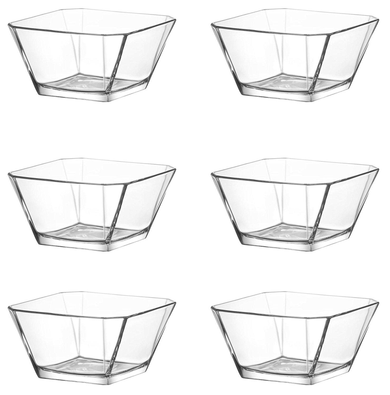 technic24 LAV 7 Teiliges Glasschalen Schalen 1900 ml 300 ml Glasschale Dessertschale Vorspeise Glas Gl/äser Serie Karen