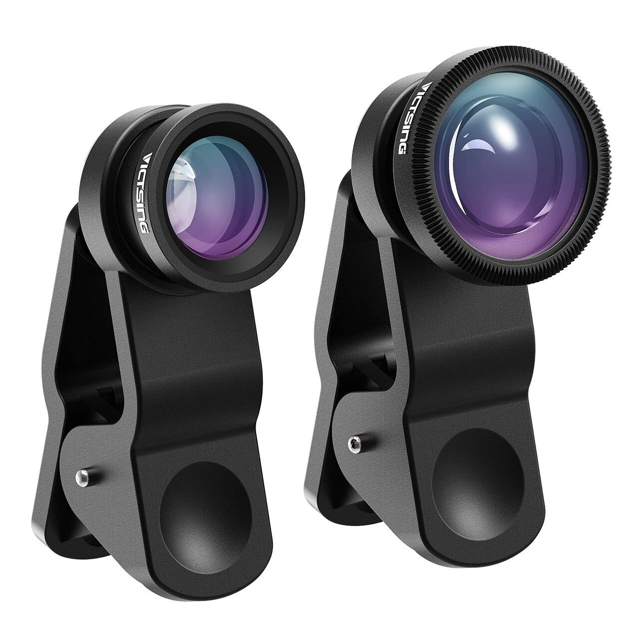 180/° Fisheye Lens+0.65X Wide Angle Lens /& 10X Macro Lens Most Android and Smart Phone- Black Screwed Together Clip on Cell Phone Lens Kits Compatible with iPhone 8//7//6s VicTsing Phone Camera Lens
