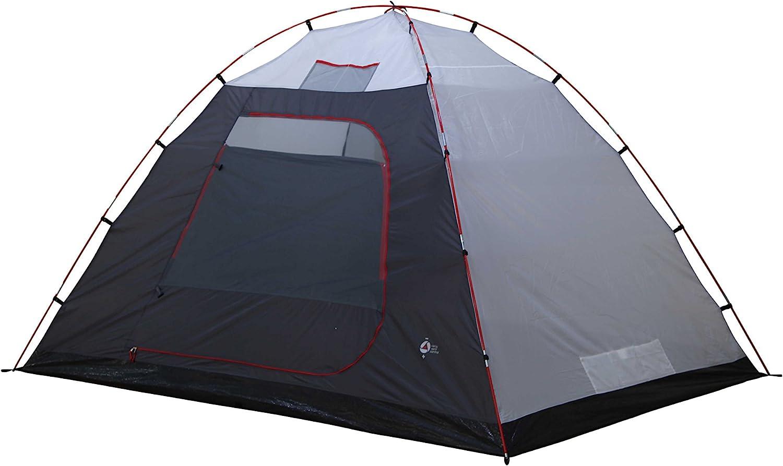 High Peak Tessin 4 Tente d/ôme Gris Clair//Gris Fonc/é 360 x 240 x 170 cm