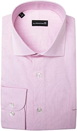 black moustache Full Sleeve Shirt For Men, Size Large, Color Pink