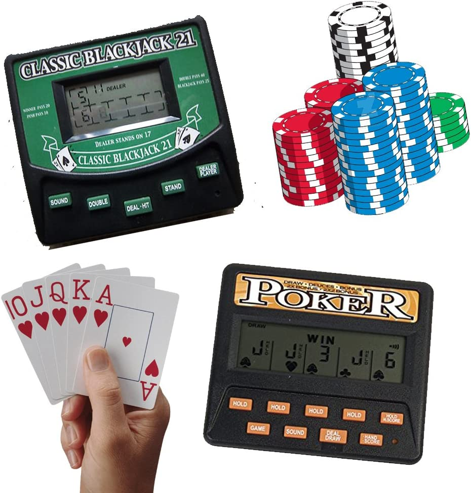 Amazon Com Traveling Portable Classic Blackjack 21 Cards 5 In 1