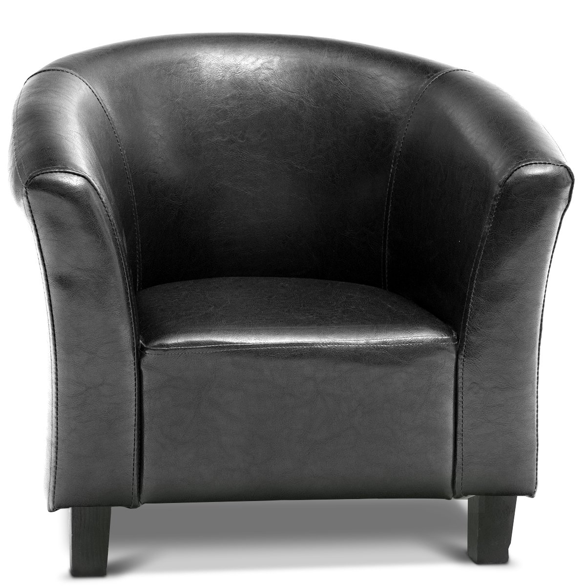 Costzon Kids Sofa Tub Chair Couch Children Living Room Toddler Furniture (PU Leather, Black) by Costzon (Image #7)