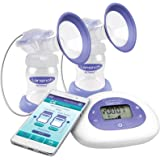 Lansinoh Smartpump Double Electric Breast Pump, with Bluetooth Technology, Hygienic Closed System and Customizable Pumping Styles