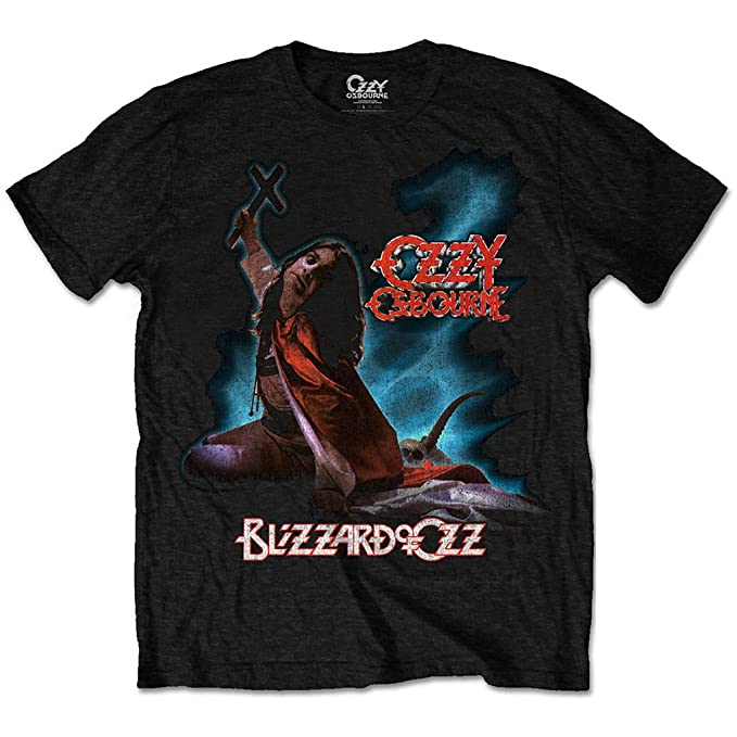 Ozzy Osbourne Blizzard of Oz Rock Heavy Metal oficial Camiseta para hombre (Small)