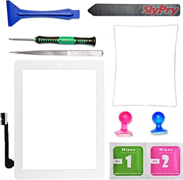 Digitizer for Apple iPad 3 4 with Tool Kit White
