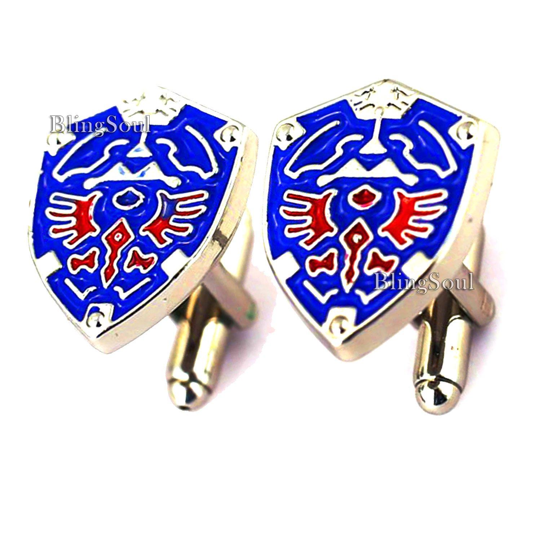 Legend of Zelda Cufflinks Blue Beautiful Jewellery Collection