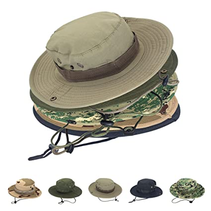 Buy Sun Protection Tactical Boonie Hat Quick Drying Fishing Hats for ... fc8009781f83