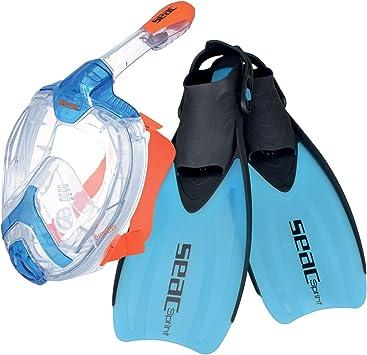 SEAC Set Unica Sprint Pack de Snorkel (máscara intégral de Buceo y ...