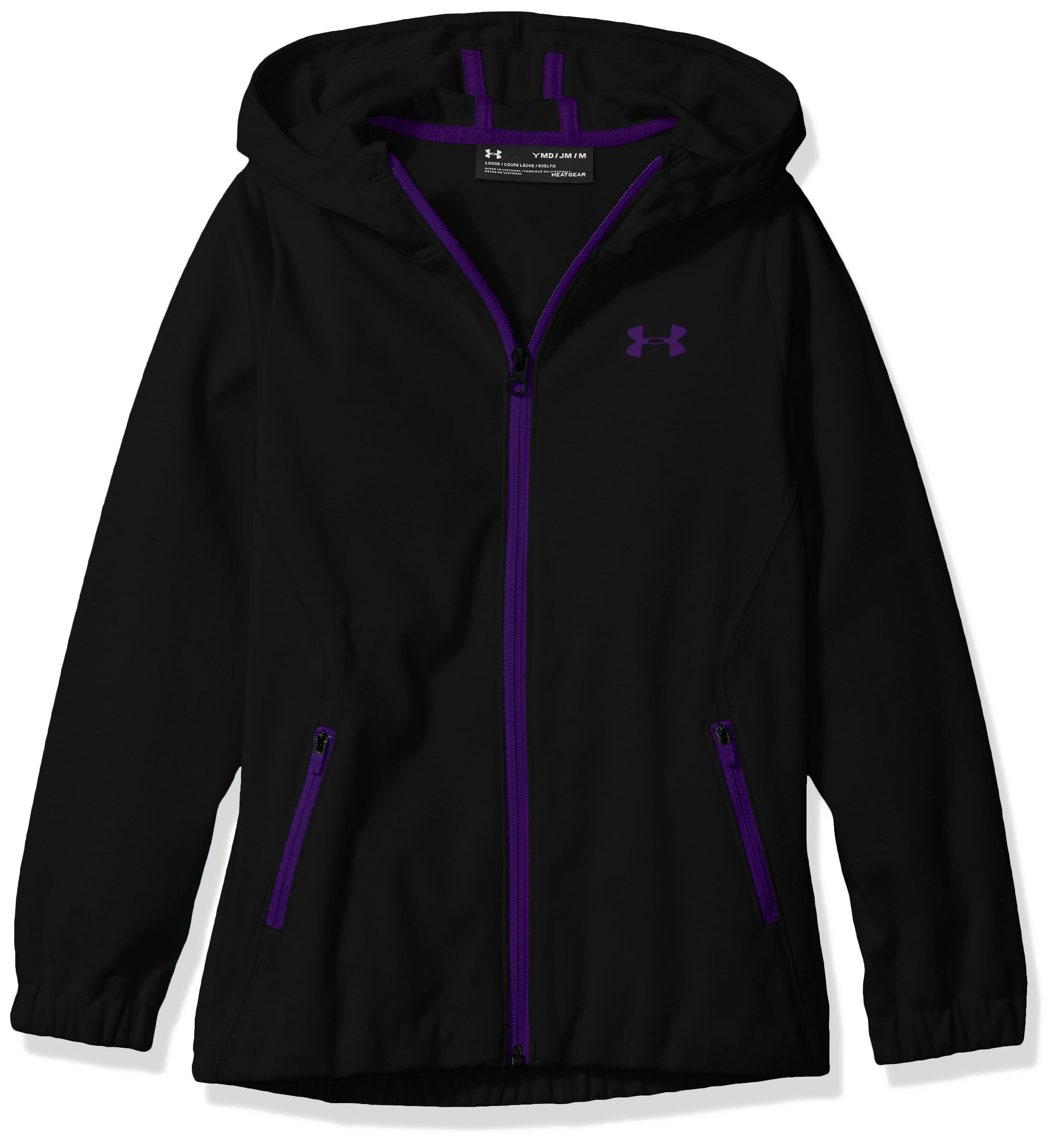 Under Armour Girls' Spring Swacket, Black , Youth X-Large by Under Armour