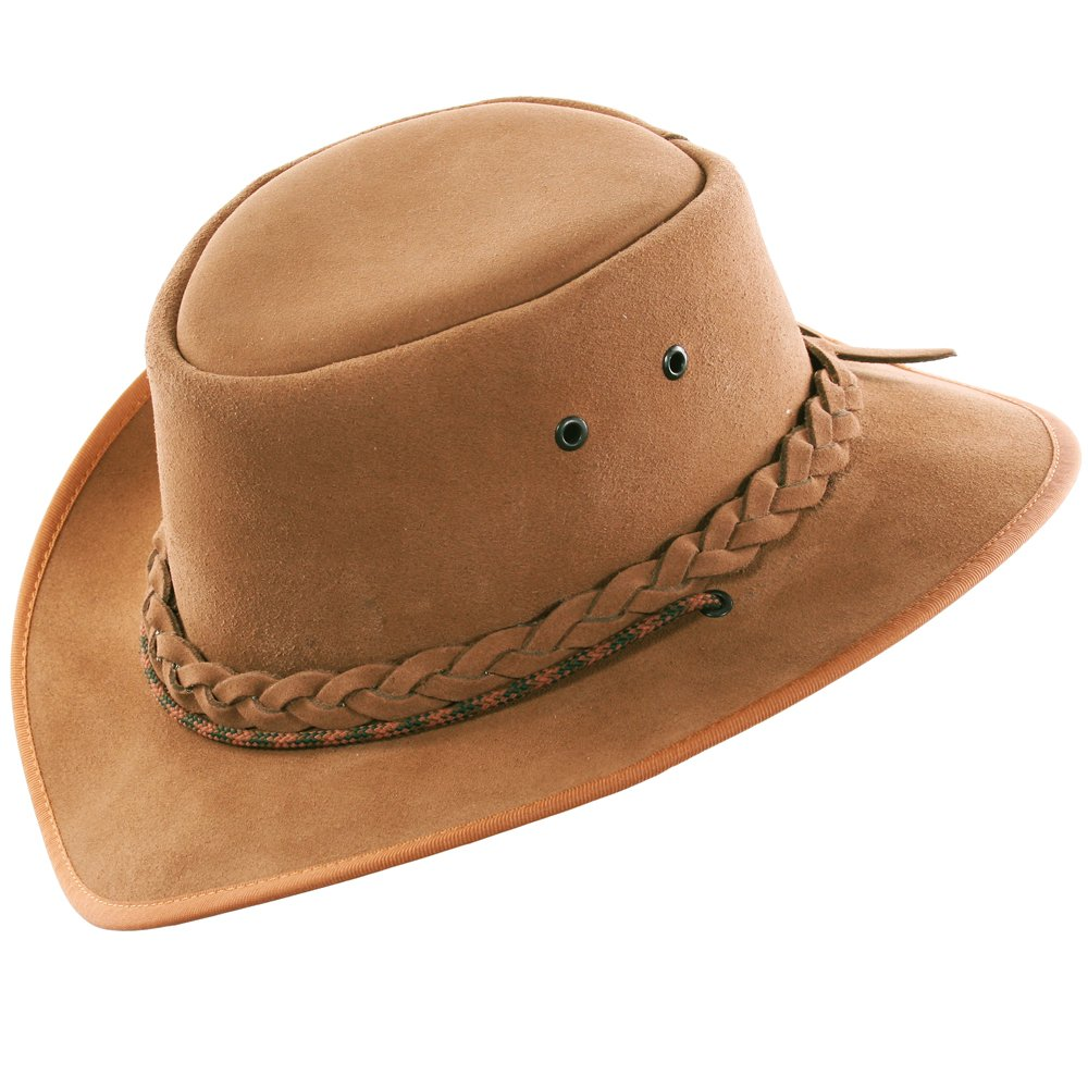 Suede Leather Hat Hand Crafted in S Africa - Cowboy/Outback/Aussie Style