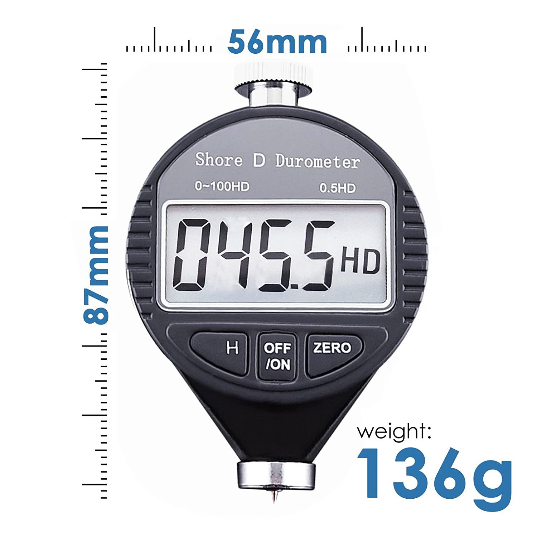 Broco Durometro Shore Digital 100HD Un dur/ómetro Shore goma Dur/ómetro medidor Pantalla LCD