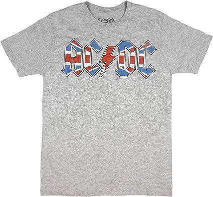 AC/DC Rock Band - Camiseta para Hombre, diseño de Bandera británica: Amazon.es: Ropa y accesorios