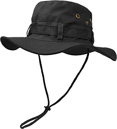 WESTERN CAMOUFLAGE MESH BOONIE HAT SNAP UP SIDES DRAWSTRING STYLE B