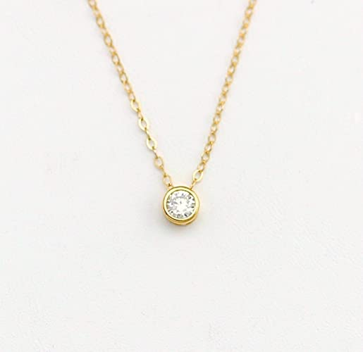 Amazon dainty tiny cubic zirconia necklace cz diamond necklace dainty tiny cubic zirconia necklace cz diamond necklace simple layering necklace minimalist jewelry aloadofball Gallery