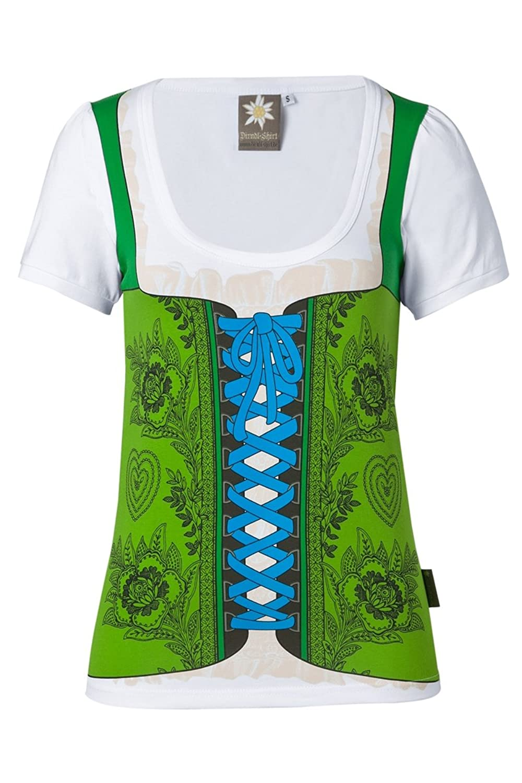 Dirndl-Shirt mit Rundumdruck MOD-06-grün