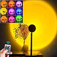 Sunset projectielamp, zonsondergang-projectielamp, lichtlamp, sfeerlamp, 16 kleuren, RGB-ledlicht, instelbare 180 graden…