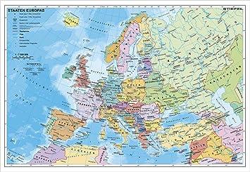 europakarte poster Europakarte Staaten Europas, 95 x 66 cm als Poster: Amazon.de  europakarte poster