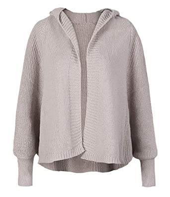 6949c7c66ce245 Pivaconis Women s Stylish Open Front Hoodie Knitted Outwear Cardigan  Sweater Apricot One Size at Amazon Women s Clothing store