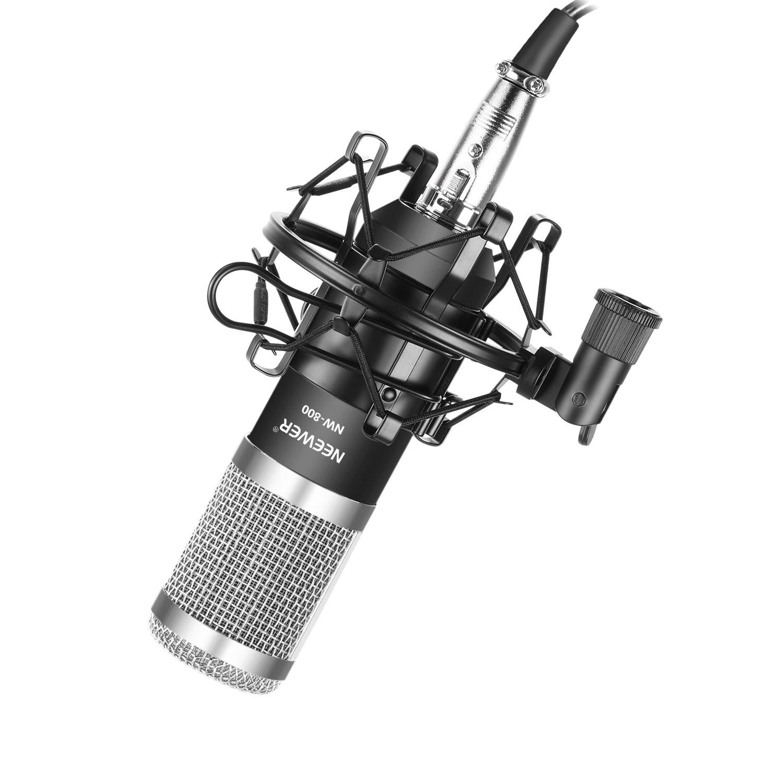 Micrófono Condensador Cardioide Neewer Nw-800 Pro Silver