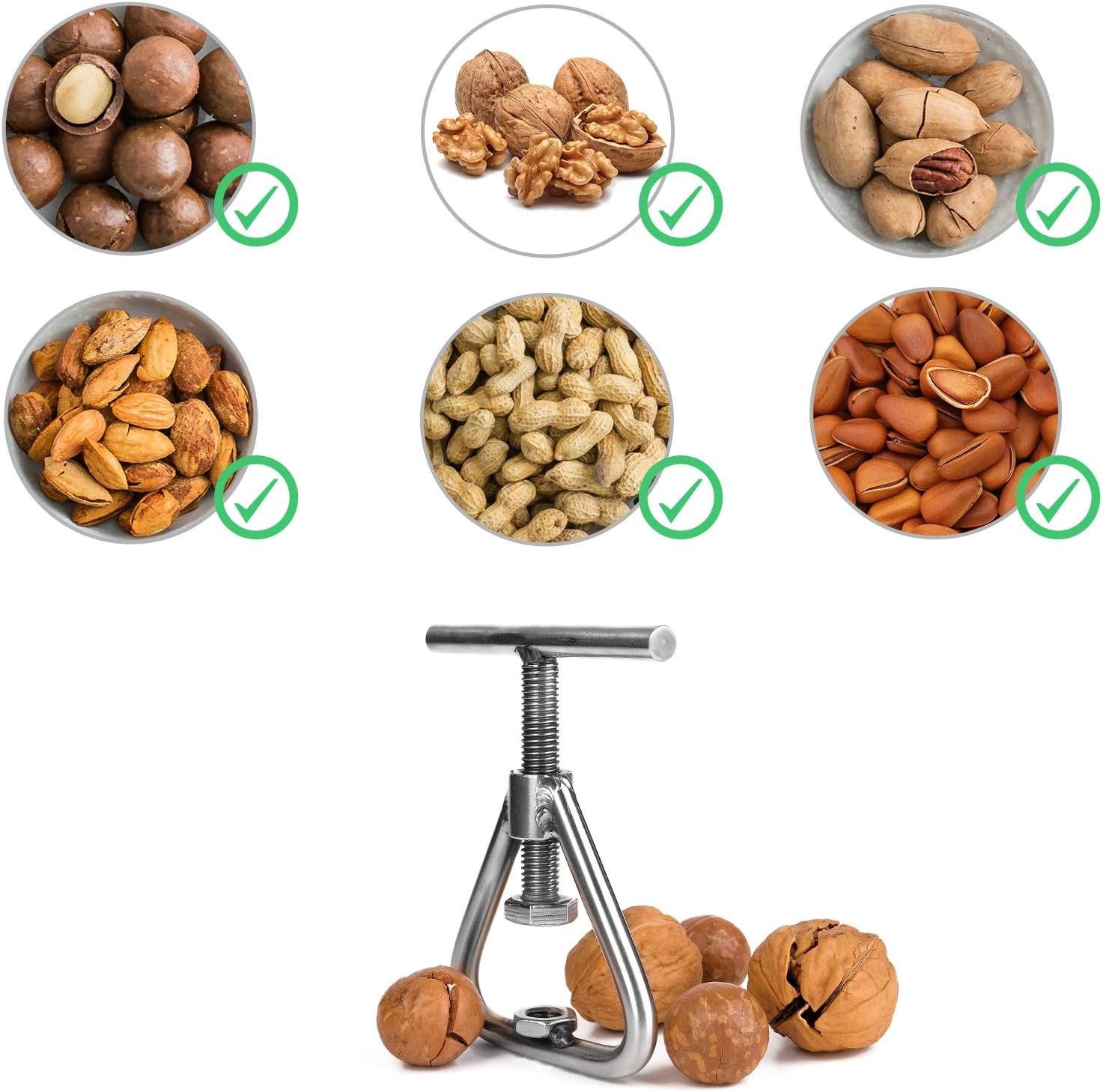 Black Walnut  nut Cracker//macadamia nut cracker