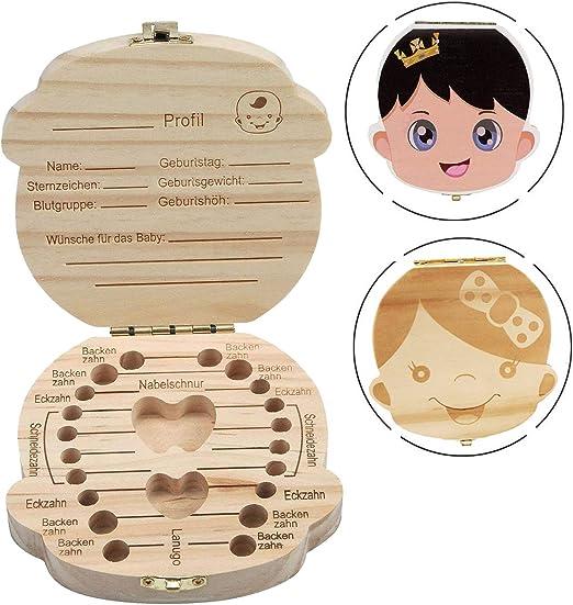 Caja de Dientes para Niños - INTVN Caja de Almacenamiento de ...