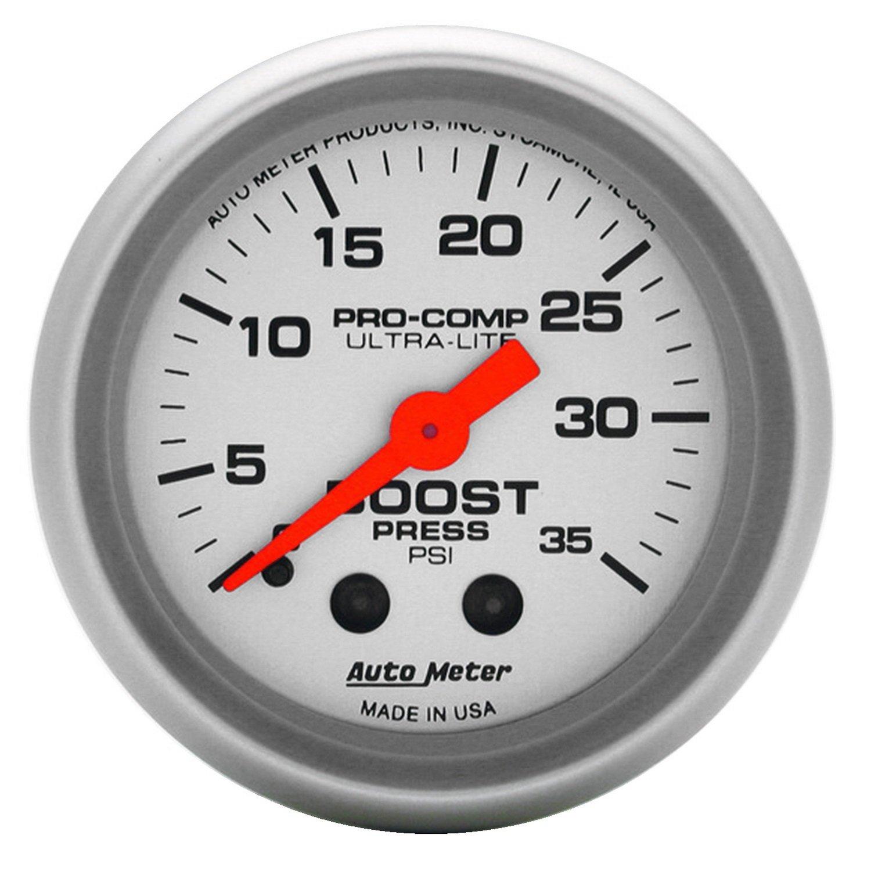Auto Meter 4304 2' 0-35 PSI Mechanical Boost Gauge