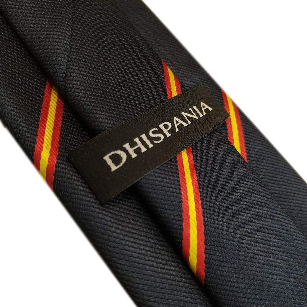 DHISPANIA Corbata Azul Marino con Bandera de España y Pañuelo a ...