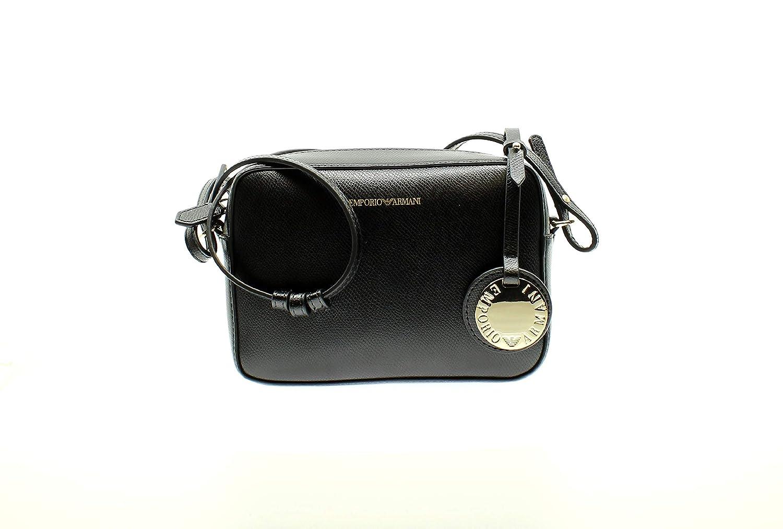 Emporio Armani classica borsa a tracolla fotocamera nera