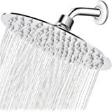 High Pressure Shower Head, 8 Inch Rain Showerhead, Ultra-Thin Design- Pressure Boosting, Awesome Shower Experience…