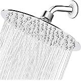 High Pressure Shower Head, 8 Inch Rain Showerhead, Ultra-Thin Design- Pressure Boosting, Awesome Shower Experience, NearMoon