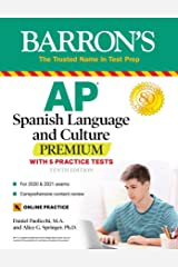 AP Spanish Language and Culture Premium: With 5 Practice Tests (Barron's Test Prep) (Spanish Edition) Kindle Edition