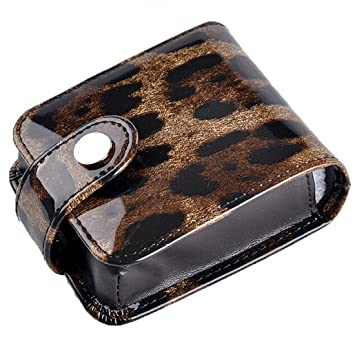 Genuine Leather Lipstick Holder Make-up Case Single Or Twin Holders With Mirror