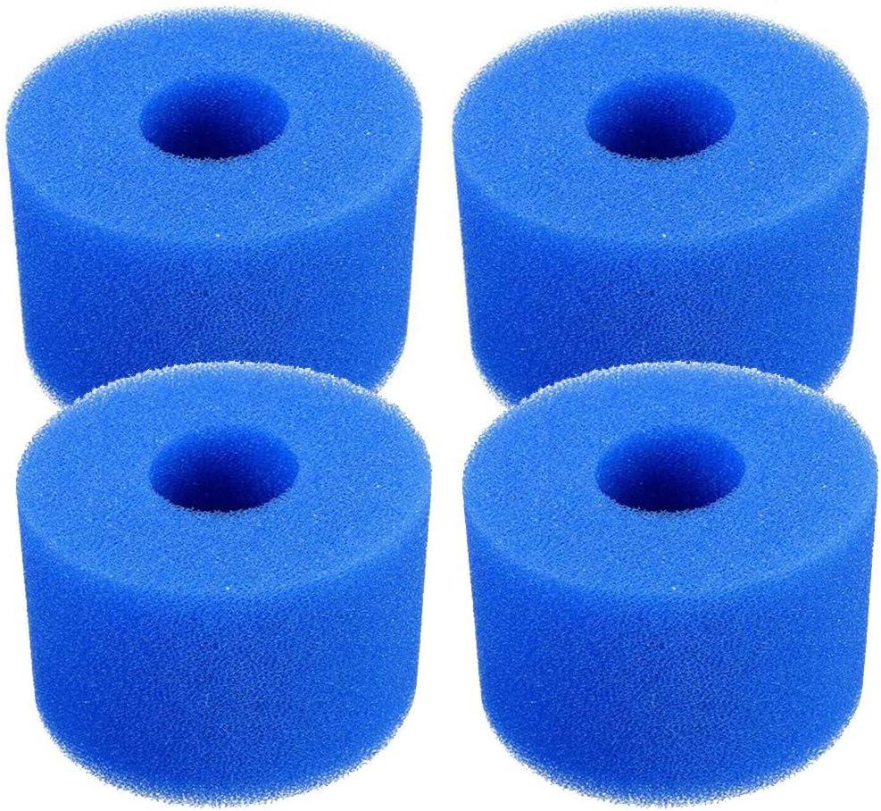 Lifreer - Cartuchos de esponja para filtro de bañera de hidromasaje o piscina Intex Pure (4 unidades), reutilizable, lavable, sustituye cartuchos tipo S1