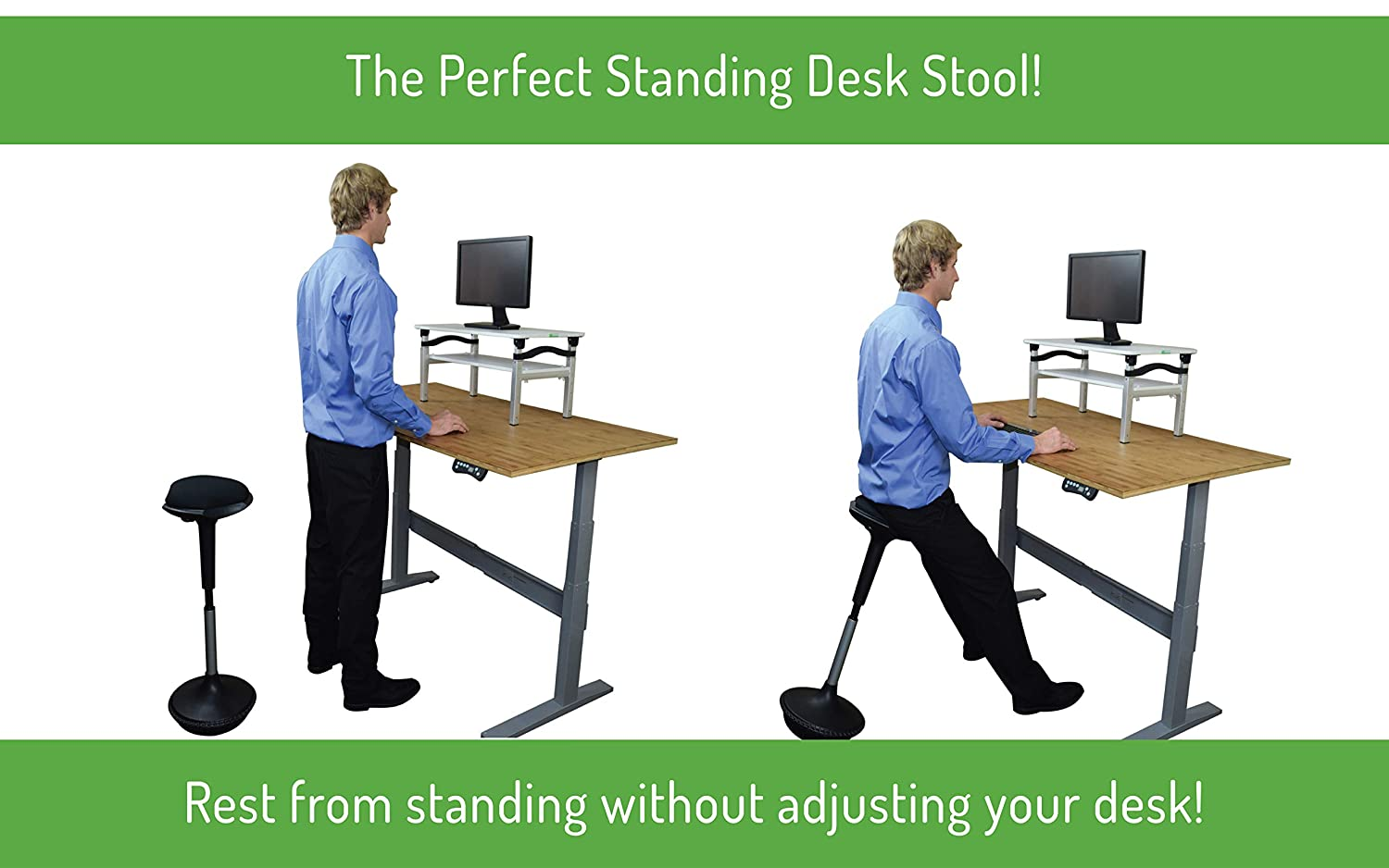 New Wobble Stool Adjustable Height Active Sitting Balance Perching