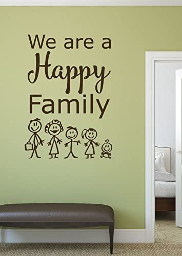 Amazon.com: Family Wall Decals - We Are a Happy Family - Song Lyric ...