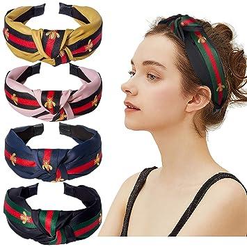 Sweet Women/'s Pearl Knot Headband Hairband Fabric Hair Hoop Bands Accessories