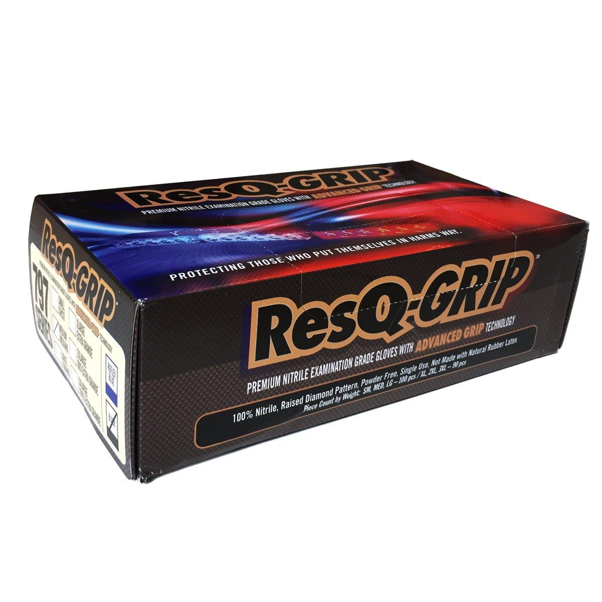 RESQ-GRIP ADVANCED GRIP TEXTURED GLOVES- MEDIUM