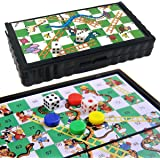 thehomegallery THG® Snakes and Ladders Kids Games Mini Magnetic Plastic Travel Board Portable Pocket