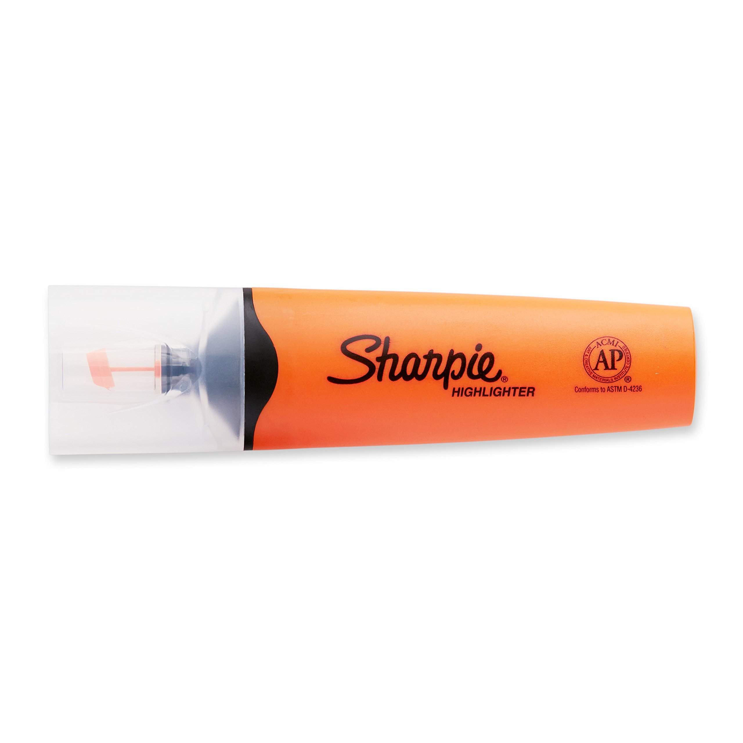 Sharpie Clear View Highlighter, Chisel Tip, 12-Pack, Orange (1897849) by Sharpie (Image #5)