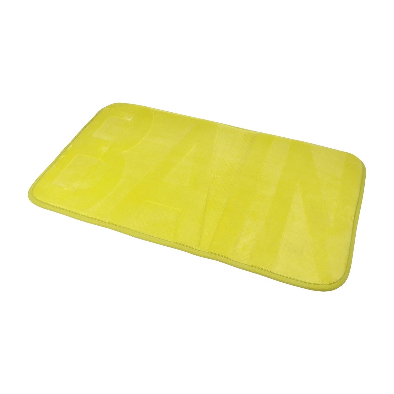 Douceur d'Intérieur 6gmb370vc Microfiber Bath Mat 45x 75cm Lime Green Codico