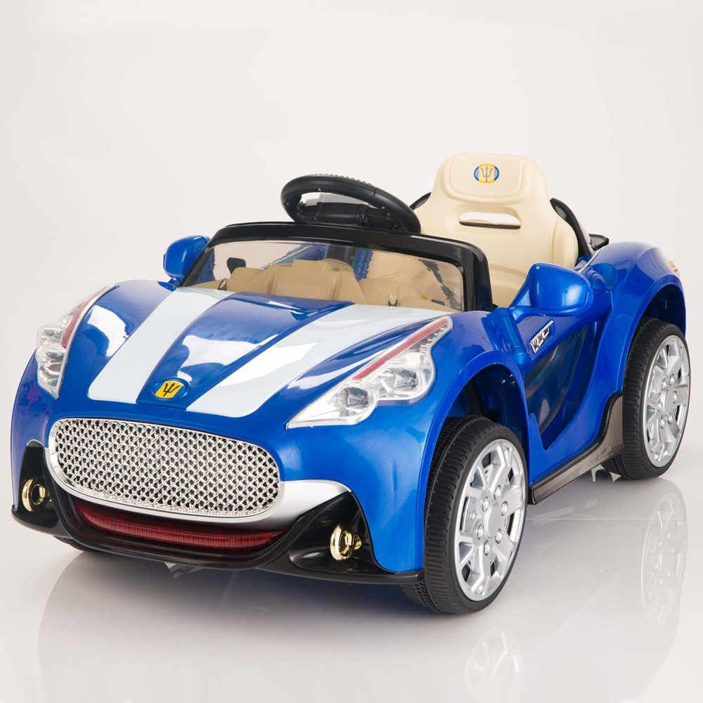 amazoncom maserati style 12v kids ride on car battery powered wheels remote control blue toys games