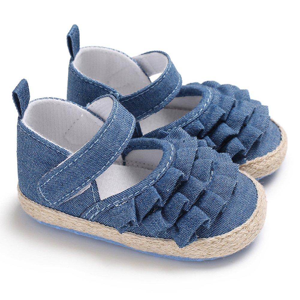 elegantstunning Corrugated Edge Baby Girl Bowknot Shoes Infant Prewalker Birthday Festival Gift